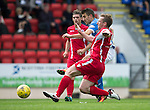 St Johnstone v Stirling Albion…30.07.16  McDiarmid Park. Betfred Cup<br />Michael Coulson's shot is saved by Chris Smith <br />Picture by Graeme Hart.<br />Copyright Perthshire Picture Agency<br />Tel: 01738 623350  Mobile: 07990 594431
