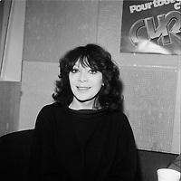 La chanteuse francaise Juliette Greco, au Quebec<br /> , date inconnue (avant 1985)<br /> <br /> PHOTO :  Agence Quebec presse - Roland Lachance