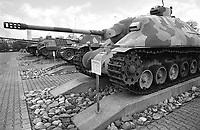 - Switzerland, the tank museum in Thun (Bern), the prototype of Nahkamofkanone 2 self-propelled anti-tank gun of Swiss design.<br /> <br /> - Svizzera, il museo dei carri armati di Thun (Berna), il prototipo del cannone semovente anticarro Nahkamofkanone 2 di progettazione svizzera.