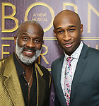 """BeBe Winans and Donald Webber Jr. backstage after a Song preview performance of the Bebe Winans Broadway Bound Musical """"Born For This"""" at Feinstein's 54 Below on November 5, 2018 in New York City."""