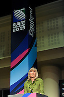 England Rugby 2015 Chief Executive Debbie Jevans during the Rugby World Cup 2015 Venues and Match Schedule Launch at Twickenham Stadium on Thursday 2nd May 2013 (Photo by Rob Munro)