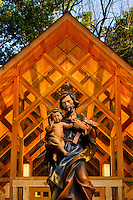 Adoration Chapel Statue at Belmont Abbey College.