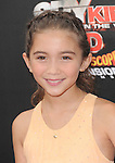 Rowan Blanchard  at The Weinstein Company World Premiere of Spy Kids: All the Time in the World in 4 held at The Regal Cinames,L.A. Live in Los Angeles, California on July 31,2011                                                                               © 2011 Hollywood Press Agency