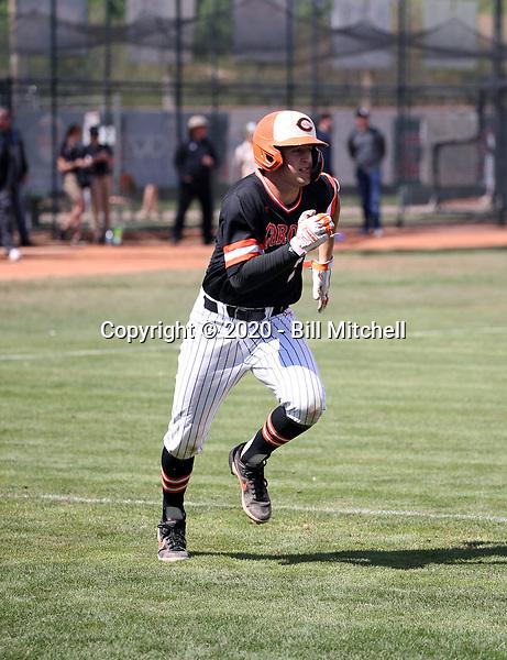 Hunter Haas of Corona Del Sol Aztecs plays in the Boras Classic of Arizona on March 14, 2020 at Corona Del Sol High School in Tempe, Arizona  (Bill Mitchell)