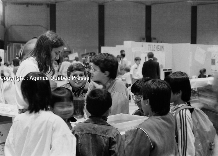 Expo-Science, date inconnue, vers 1990<br /> <br /> <br /> PHOTO :   agence Quebec Presse