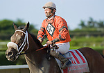 10 July 2010: Reachforthecastle and Jockey Manuel Aguilar after the Princess Rooney Handicap at Calder Race Course in Miami Gardens, FL.
