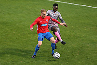 Kenny Clark of Dagenham and Redbridge and Moses Emmanuel of Wealdstone during Dagenham & Redbridge vs Wealdstone, Vanarama National League Football at the Chigwell Construction Stadium on 10th October 2020