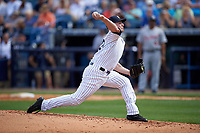 New York Yankees relief pitcher Mark Montgomery (62) delivers a pitch during a Spring Training game against the Detroit Tigers on March 2, 2016 at George M. Steinbrenner Field in Tampa, Florida.  New York defeated Detroit 10-9.  (Mike Janes/Four Seam Images)