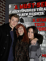 General Hospital's Kristen Alderson and Chad Duell came into New York City to see Broadway's Rocky on April 25, 2014 at the Winter Garden Theatre and then went backstage to meet the actors. Photos were taken backstage and on stage.  (Photo by Sue Coflin/Max Photos)
