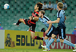 SYDNEY - APRIL 05:  Jae Won Lee of Pohang Steelers attempts a volley during the AFC Champions League group H match between Sydney FC and Pohang Steelers on 05 April 2016 held at Sydney Football Stadium in Sydney, Australia. Photo by Mark Metcalfe / Power Sport Images *** Local Caption *** Jae Won Lee