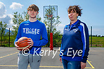 Tralee Imperials Sam Fitzgerald and his mom Cathy Williams return to basketball training in Blennerville NS on Saturday.