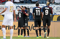 Chicago, IL - June 7, 2016: The U.S. Men's national team take a 2-0 lead over Costa Rica from a goal by Jermaine Jones during a first round match at the 2016 Copa America Centenario at Soldier Field.