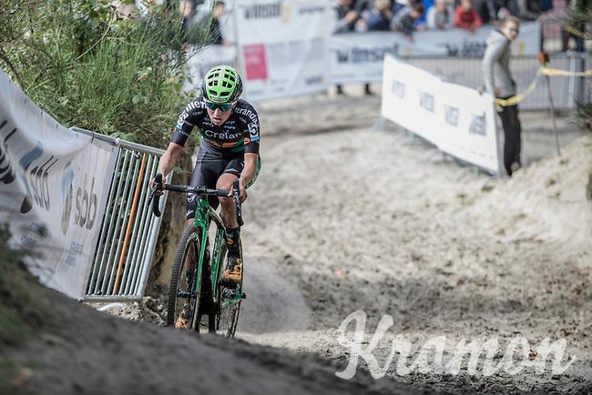 Later winner at the women's Elite race: Maud Kaptheijns (NED/Crelan-Charles). <br /> <br /> cx Telenet Superprestige Gieten 2017 (NED)