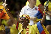 Hinchas de Colombia durante el en partido de eliminatorias para el Mundial de Fútbol 2018 contra Ecuador en el Estadio Metropolitano Roberto Melendez de Barranquilla el 29 de marzo de 2016.<br /> <br /> Foto: Archivolatino<br /> <br /> COPYRIGHT: Archivolatino<br /> Prohibido su uso sin autorización.