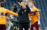 Motherwell v St Johnstone.....16.04.11  Scottish Cup Semi-Final.Stuart McCall aplluads the fans at full time.Picture by Graeme Hart..Copyright Perthshire Picture Agency.Tel: 01738 623350  Mobile: 07990 594431