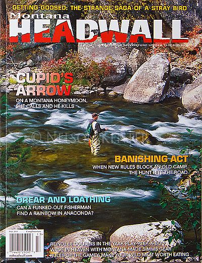 Nelson Kenter photo of a fall fishing scene on Rock Creek in Montana use for a magazine cover