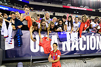PHILADELPHIA, PA - AUGUST 29: Carli Lloyd #10 of the United States with fans during a game between Portugal and USWNT at Lincoln Financial Field on August 29, 2019 in Philadelphia, PA.
