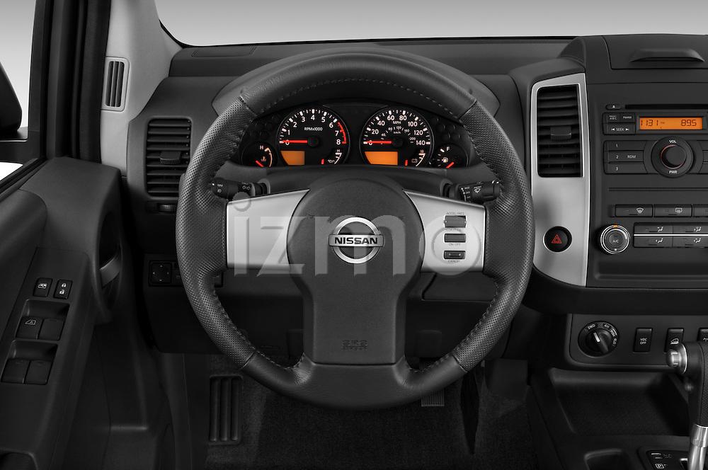 Steering wheel view of a 2009 Nissan Xterra Off Road