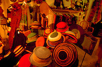 Interior of a womens clothing and hat store.