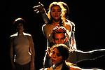 FRESQUE..FEMMES REGARDANT A GAUCHE....Choregraphie : DECINA Paco..Lumiere : SCHNEEGANS Laurent..Costumes : GARNIER Cathy..scenographie video : MEYER Serge..Avec :..CAMUS Orin..DELETANG Vincent..HERNANDEZ Chloe..LAMOTTE Sylvere..MATSUYAMA Noriko..SEVARI Jesus..UENO Takashi..Lieu : Theatre de la Cite Internationale..Ville : Paris..Le : 16 01 2009....© Laurent Paillier / www.photosdedanse.com..All rights reserved