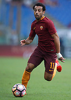 Calcio, Serie A: Roma vs Sampdoria. Roma, stadio Olimpico, 11 settembre 2016.<br /> Roma's Mohamed Salah in action during the Italian Serie A football match between Roma and Sampdoria at Rome's Olympic stadium, 11 September 2016. Roma won 3-2.<br /> UPDATE IMAGES PRESS/Isabella Bonotto