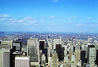 New York City: Looking due North from Empire State Building. Photo '78.