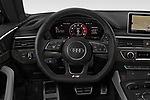 Car pictures of steering wheel view of a 2018 Audi S5 Sportback Base 5 Door Hatchback