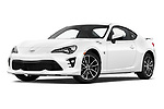 Stock pictures of low aggressive front three quarter view of 2018 Toyota 86 GT 2 Door Coupe Low Aggressive
