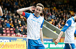 Motherwell v St Johnstone…05.05.18…  Fir Park    SPFL<br />Steven MacLean celebrates his second goal<br />Picture by Graeme Hart. <br />Copyright Perthshire Picture Agency<br />Tel: 01738 623350  Mobile: 07990 594431