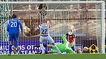 Hamilton Accies v St Johnstone..23.10.10  .Graeme Smith can't save Simon Mensings penalty kick.Picture by Graeme Hart..Copyright Perthshire Picture Agency.Tel: 01738 623350  Mobile: 07990 594431