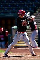 Travis Becherer (7) of the Southern Illinois University- Edwardsville Cougars at bat during a game against the Missouri State Bears at  Hammons Field on March 10, 2012 in Springfield, Missouri. (David Welker / Four Seam Images)