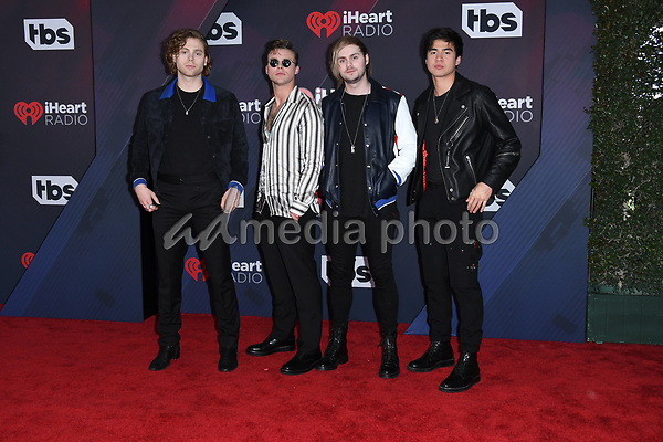 11 March 2018 - Inglewood, California - 5 Seconds of Summer. 2018 iHeart Radio Awards held at The Forum. Photo Credit: Birdie Thompson/AdMedia