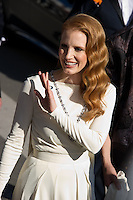 """Jessica Chastain - Montee des marches du film """"Ma vie avec Liberace"""" lors du 66eme Festival du film de Cannes le 21 mai 2013 Jessica Chastain arrives at the screening of the film """"Behind the Candelabra"""" during the 66th annual Cannes International Film Festival in Cannes, France on May 21, 2013. .Cannes 21/5/2013 .66mo Festival del Cinema di Cannes 2013 .Foto Panoramic / Insidefoto .ITALY ONLY"""