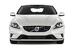 Car photography straight front view of a 2015 Volvo V40 R-Design 5 Door Hatchback Front View