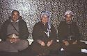 Iran  1980 <br /> After the beginning of war between Iraq and Iran, from right to left, Azad Berwari, Ali Abdullah and Aziz Akrawi in the politburo in Rajan  <br /> Iran 1980 <br /> Debut de la guerre entre l'Iran et l'Irak, de droite a gauche, Azad Berwari, Ali Abdalla et Aziz Akrawi dans le politburo de Rajan