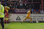 Aldershot Town 0 Torquay United 3, 15/08/2007. Recreation Ground, Football Conference.Torquay's first game in the Blue Square Premier. A 330 mile round trip to Aldershot Town's Recreation Ground. A Torquay corner is taken under the watchful eye of the Aldershot mascot (The Pheonix)