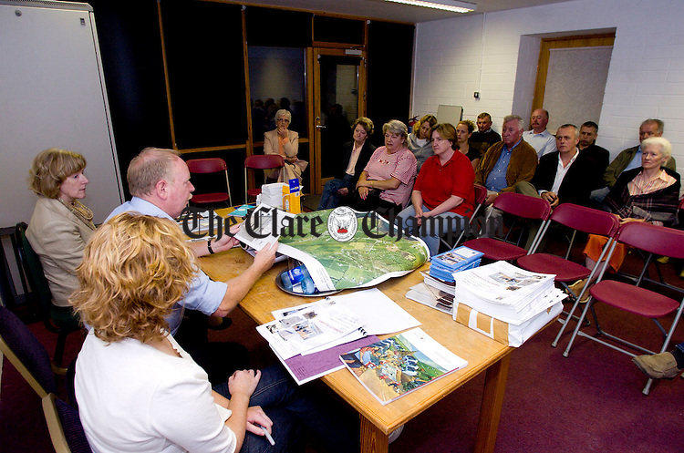 Conservation Officer Dick Cronin chairs a Village Design Statement for Ballyvaughan meeting at the Burren College of Art.Pic Arthur Ellis.