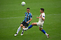 13th September 2020; Arena do Gremio Stadium, Porto Alegre, Brazil; Brazilian Serie A, Gremio versus Fortaleza; Robinho of Gremio clips the ball past Osvaldo of Fortaleza