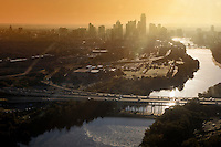 Austin Texas Aerial Images from a Drone Helicopter - Stock Photo Image Gallery