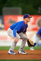 Midland RockHounds third baseman Matt Chapman (7) during a game against the San Antonio Missions on April 21, 2016 at Nelson W. Wolff Municipal Stadium in San Antonio, Texas.  Midland defeated San Antonio 9-2.  (Mike Janes/Four Seam Images)