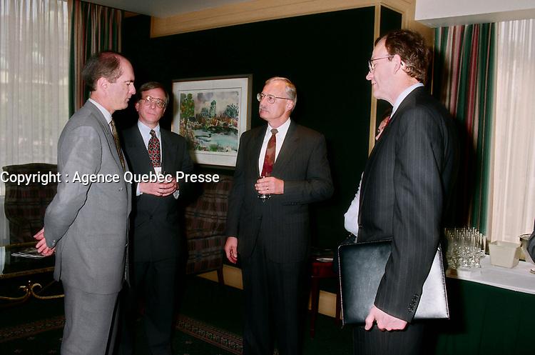 Gordon Thiessen, Bank of Canada, mai 1998<br /> <br /> PHOTO :  Agence Quebec Presse