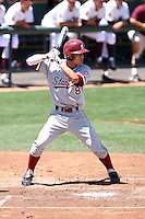 Lonnie Kauppila #8 of the Stanford Cardinal plays against the Arizona State Sun Devils on May 1, 2011 at Packard Stadium, Arizona State University, in Tempe, Arizona. .Photo by:  Bill Mitchell/Four Seam Images.