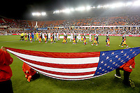 1/29/13 : USA vs Canada in a friendly game at BBVA Stadium in Houston, Texas. The match ended in a 0 to 0 draw.