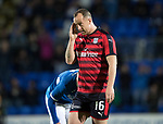 Dave Mackay Testimonial: St Johnstone v Dundee…06.10.17…  McDiarmid Park… <br />Charlie Adam goes off<br />Picture by Graeme Hart. <br />Copyright Perthshire Picture Agency<br />Tel: 01738 623350  Mobile: 07990 594431