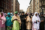 Monday, March 12, 2007, Brooklyn, New York.<br />  Community members gathered at the Islamic Cultural Center for the funeral of the family members killed in the Bronx fire. Several of the children will be buried in the United States, while others will be put to rest in Mali.