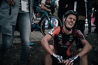 Jens Adams (BEL/Pauwels Sauzen-Vastgoedservice) trying to catch his breath after the finish-line<br /> <br /> Elite Men's race<br /> Koppenbergcross / Belgium 2017