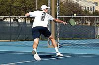 SAN ANTONIO, TX - FEBRUARY 25, 2018: The University of Texas at San Antonio Roadrunners defeat the University of the Incarnate Word Cardinals 5-2 at the UTSA Tennis Center. (Photo by Jeff Huehn)