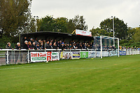 Enfield fans during Enfield Town vs Worthing, Pitching In Isthmian League Premier Division Football at the Queen Elizabeth II Stadium on 16th October 2021