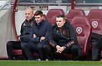 26.01.2020 Hearts v Rangers: Gary McAllister, Steven Gerrard and Tom Culshaw