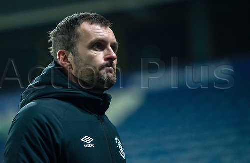 7th November 2020 The John Smiths Stadium, Huddersfield, Yorkshire, England; English Football League Championship Football, Huddersfield Town versus Luton Town; Nathan Jones of Luton Town during his post match interview